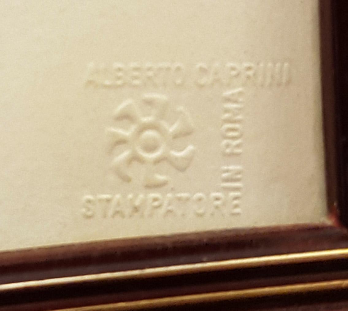 Timbro Alberto Caprini Roma