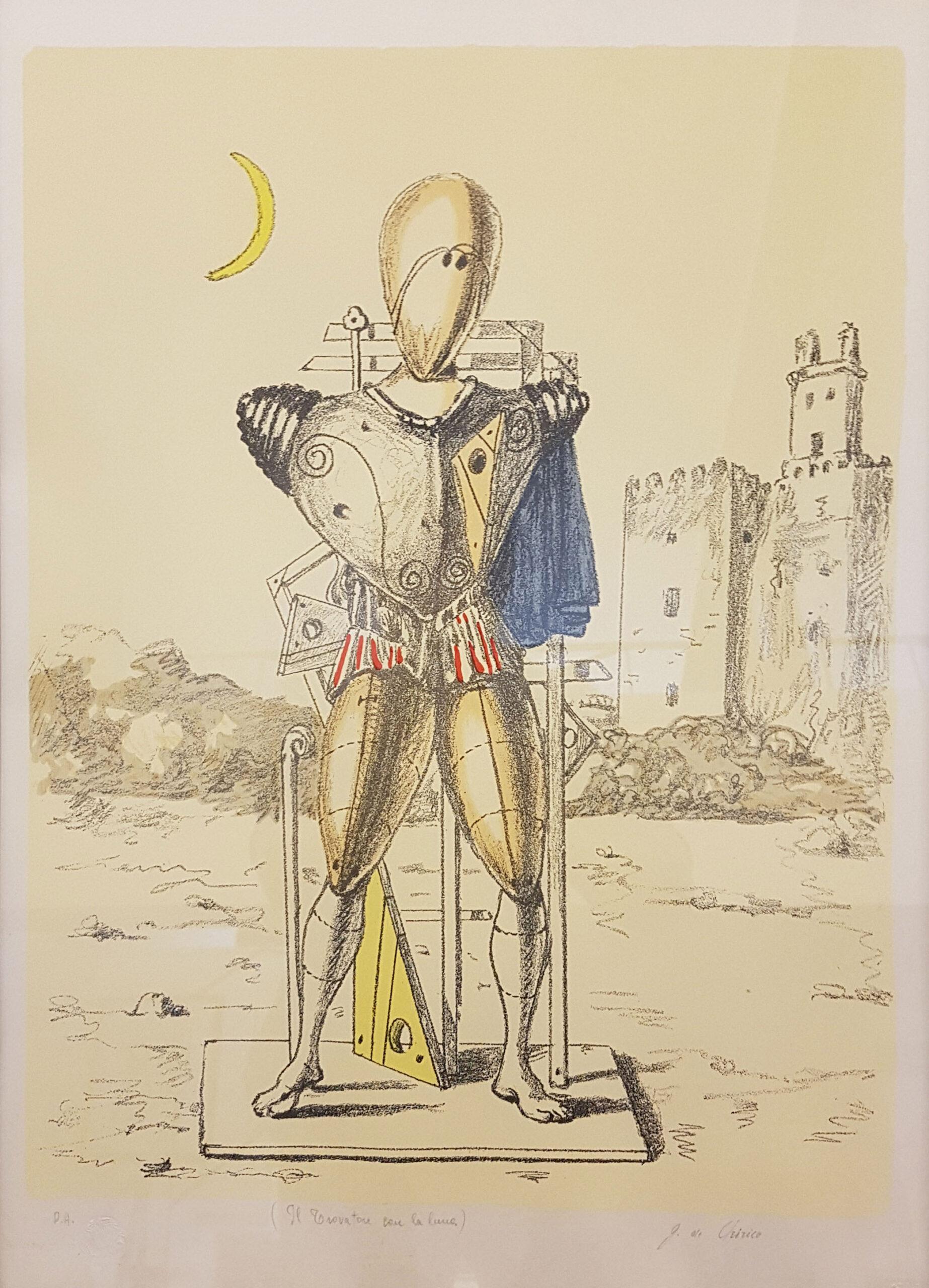Il Trovatore con la luna - Giorgio De Chirico