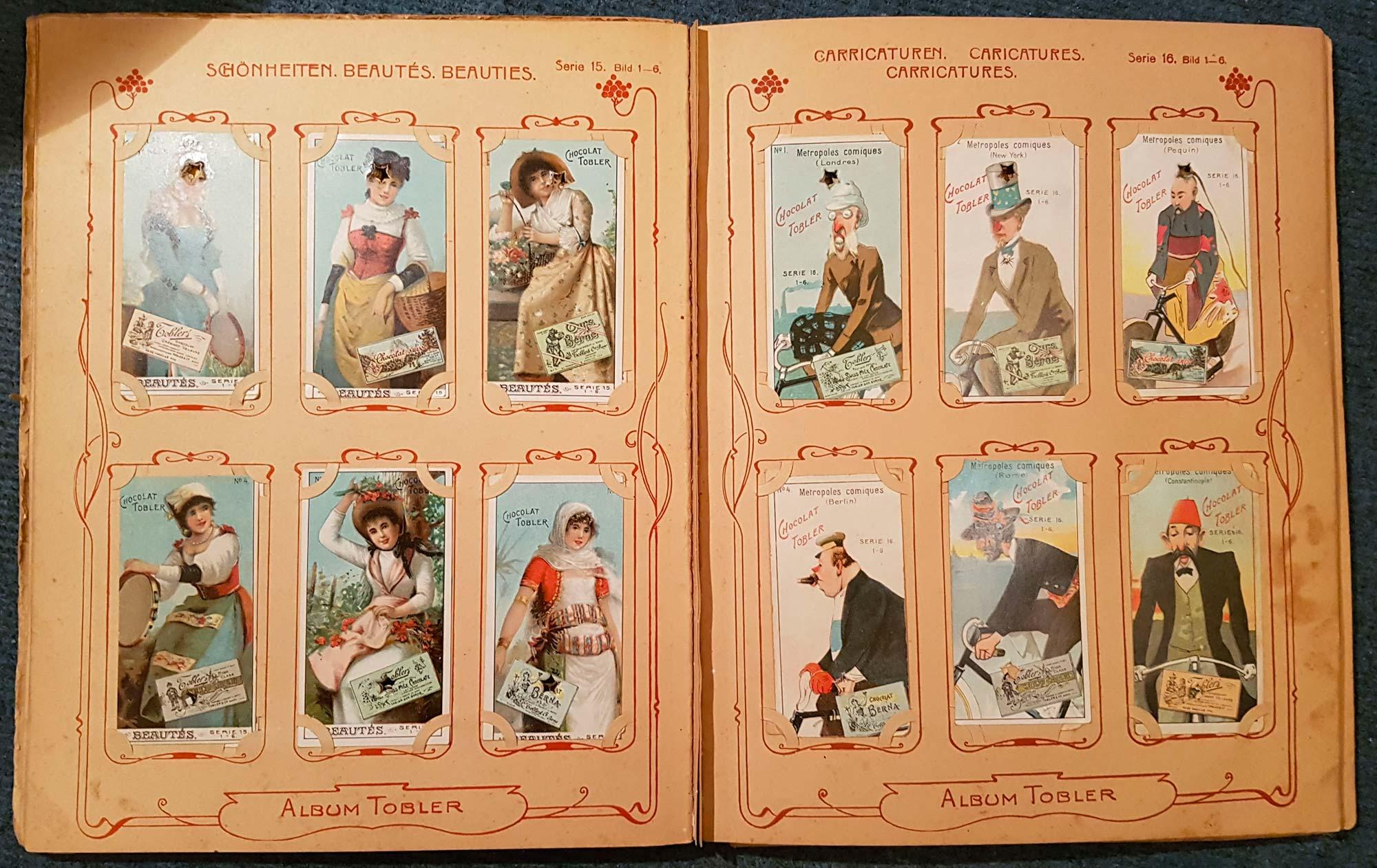 Tobler albuma completo figurine 1890